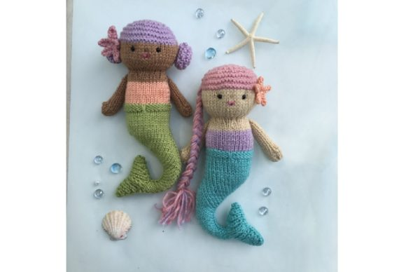 Knit Mermaid Dolls Pattern Graphic Knitting Patterns By Amy Gaines Amigurumi Patterns - Image 5