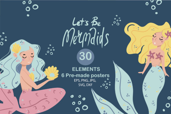 Print on Demand: Let's Be Mermaids Graphic Illustrations By Zolotovaillustrator