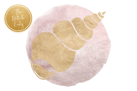 Print on Demand: Lilac & Sand Seashell Clipart Set Graphic Illustrations By daphnepopuliers - Image 4