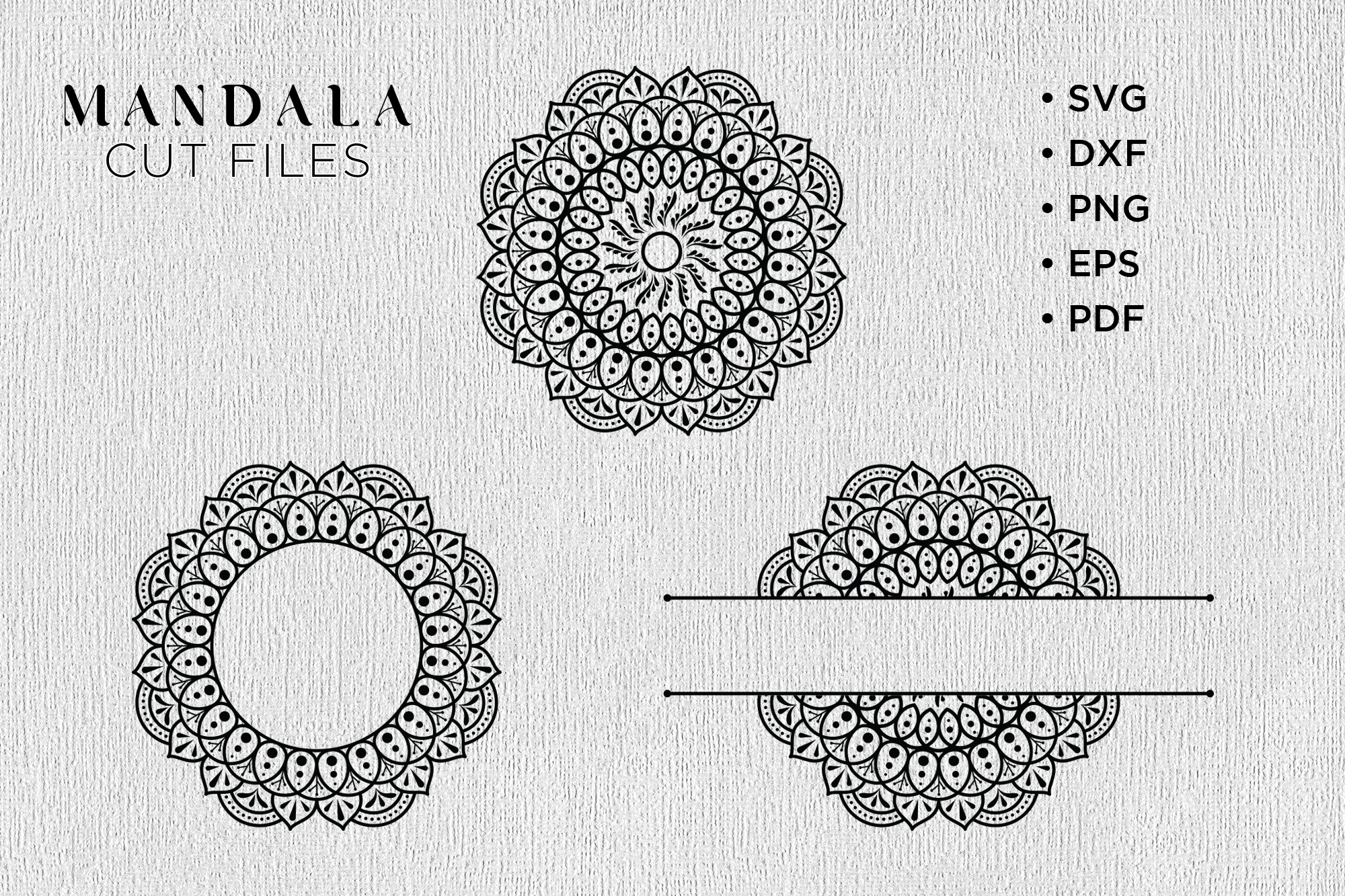 Free Design Svg Files  3d Mandala Letters Svg Free