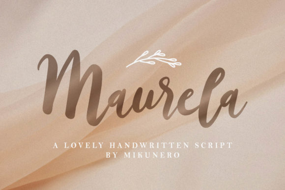Print on Demand: Maurela Script & Handwritten Font By Mikunero