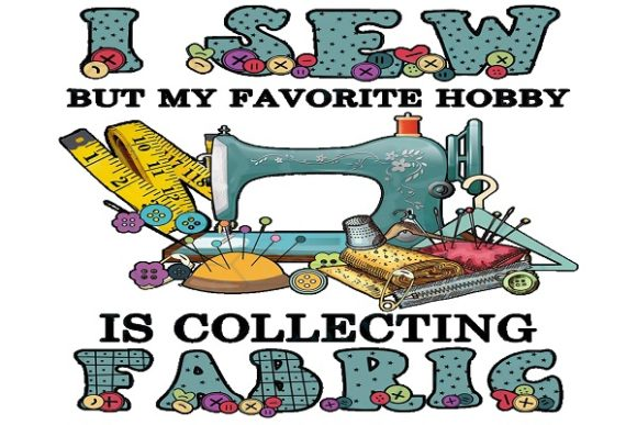 My Favorite Hobby is Collecting Fabric Graphic Print Templates By FLC