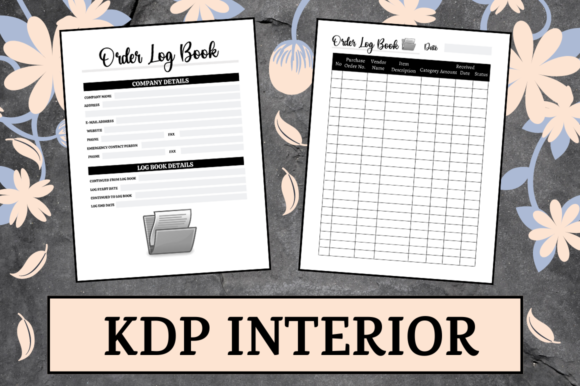 Print on Demand: Order Log Book | KDP Interior Graphic KDP Interiors By Hungry Puppy Studio