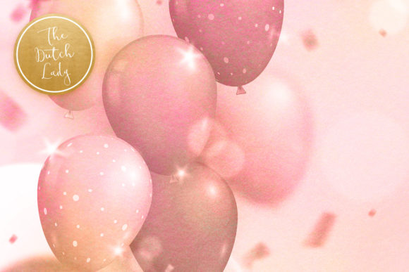 Print on Demand: Party Time & Balloon Backgrounds Graphic Backgrounds By daphnepopuliers - Image 4