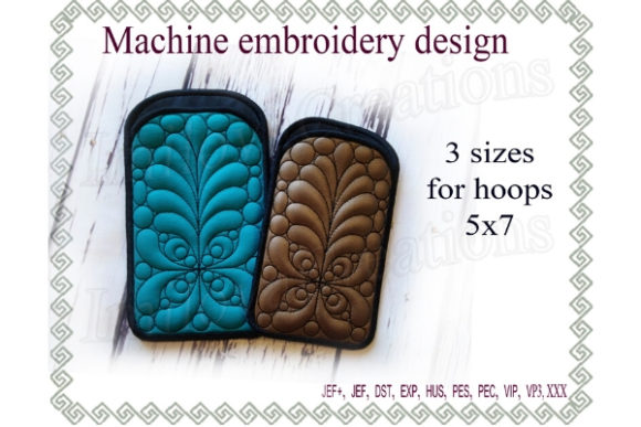 Phone Case in the Hoop Sewing & Crafts Embroidery Design By ImilovaCreations