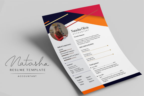 Resume Template - Accountant Graphic Print Templates By OtpirusThree