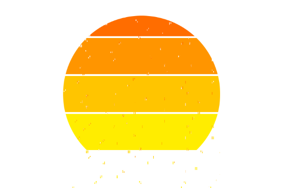 Print on Demand: Retro Sunset Background Clipart Graphic Crafts By atlasart - Image 6