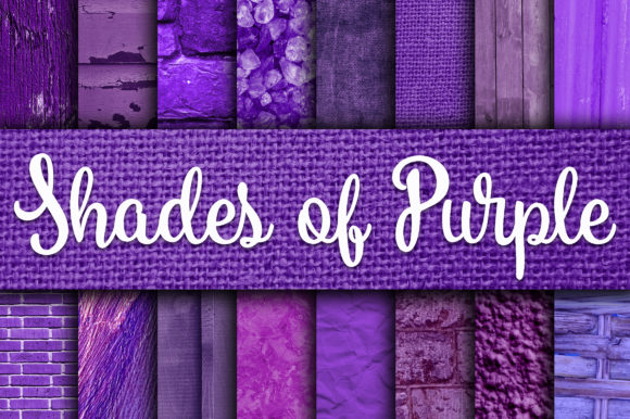 Print on Demand: Shades of Purple Digital Paper Textures Graphic Textures By oldmarketdesigns