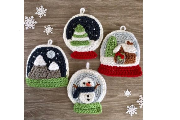 Snow Globe Christmas Ornament Pattern Graphic Crochet Patterns By Amy Gaines Amigurumi Patterns - Image 1
