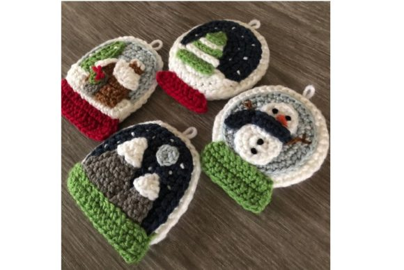 Snow Globe Christmas Ornament Pattern Graphic Crochet Patterns By Amy Gaines Amigurumi Patterns - Image 2