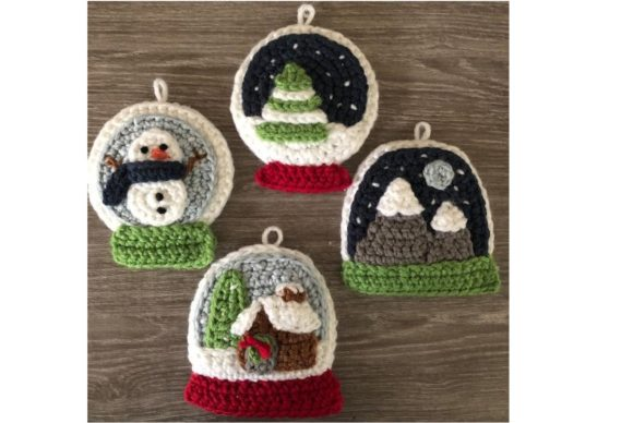 Snow Globe Christmas Ornament Pattern Graphic Crochet Patterns By Amy Gaines Amigurumi Patterns - Image 3