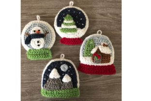 Snow Globe Christmas Ornament Pattern Graphic Crochet Patterns By Amy Gaines Amigurumi Patterns 4