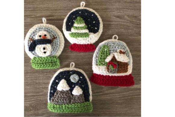 Snow Globe Christmas Ornament Pattern Graphic Crochet Patterns By Amy Gaines Amigurumi Patterns - Image 4