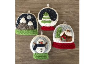 Snow Globe Christmas Ornament Pattern Graphic Crochet Patterns By Amy Gaines Amigurumi Patterns 5