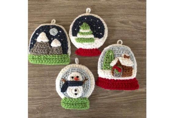 Snow Globe Christmas Ornament Pattern Graphic Crochet Patterns By Amy Gaines Amigurumi Patterns - Image 5