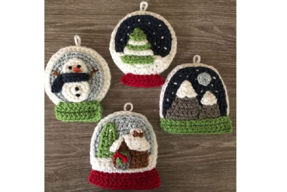 Snow Globe Christmas Ornament Pattern Graphic Crochet Patterns By Amy Gaines Amigurumi Patterns - Image 6