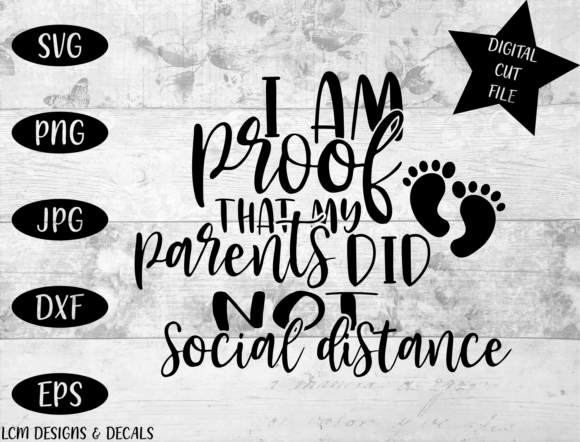 Social Distance / Pregnancy Announcement Graphic Illustrations By LCM Designs