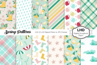 Spring Patterns - Digital Papers Graphic Patterns By LeskaHamatyDesign