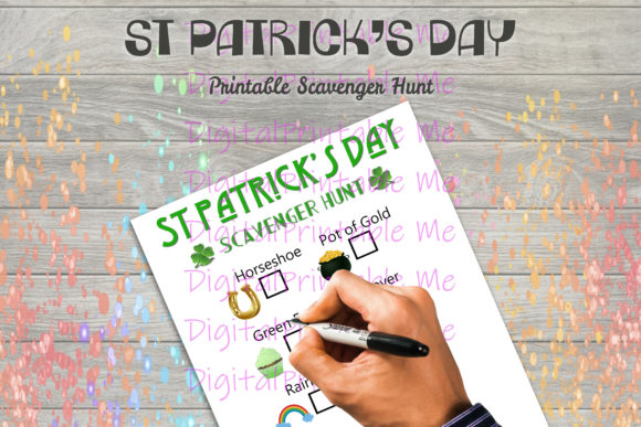 Print on Demand: St. Patrick's Day Scavenger Hunt Kid Game Graphic PreK By DigitalPrintableMe