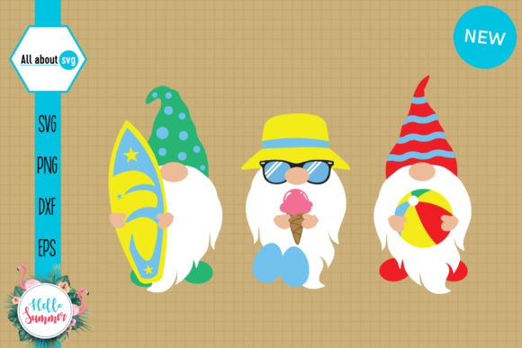 Summer Beach Gnomies Graphic Crafts By All About Svg