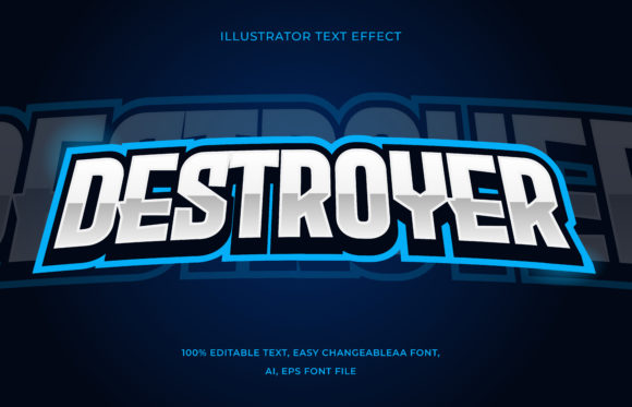 Text Effect Editable - Esports Graphic Add-ons By aalfndi
