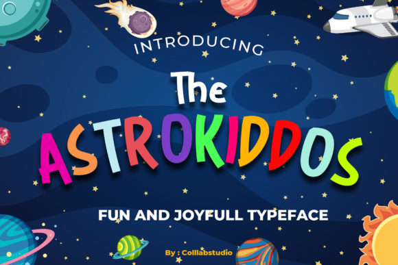 Print on Demand: The Astrokiddos Display Font By colllabstudio