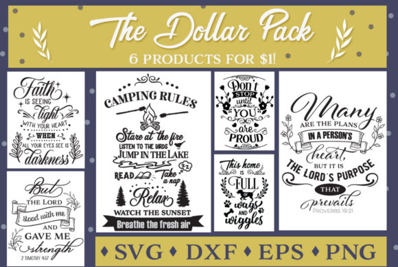 Print on Demand: The Dollar Pack Vol 2 Graphic Crafts By Nerd Mama Cut Files