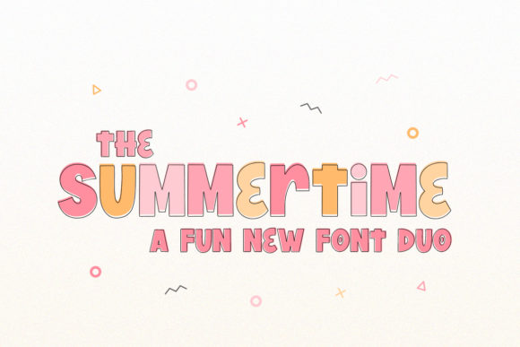 Print on Demand: The Summertime Display Font By Salt & Pepper Designs - Image 1