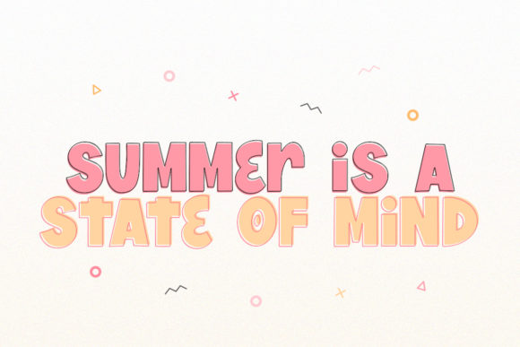 Print on Demand: The Summertime Display Font By Salt & Pepper Designs - Image 4