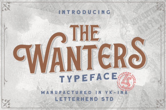 Print on Demand: The Wanters Display Font By letterhend - Image 1