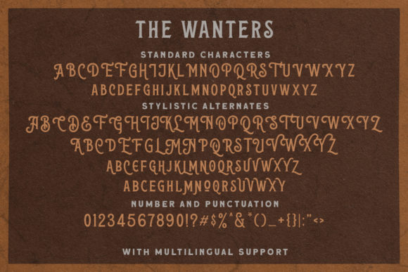 Print on Demand: The Wanters Display Font By letterhend - Image 9
