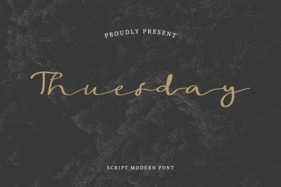 Print on Demand: Thuesday Script & Handwritten Font By EdricStudio