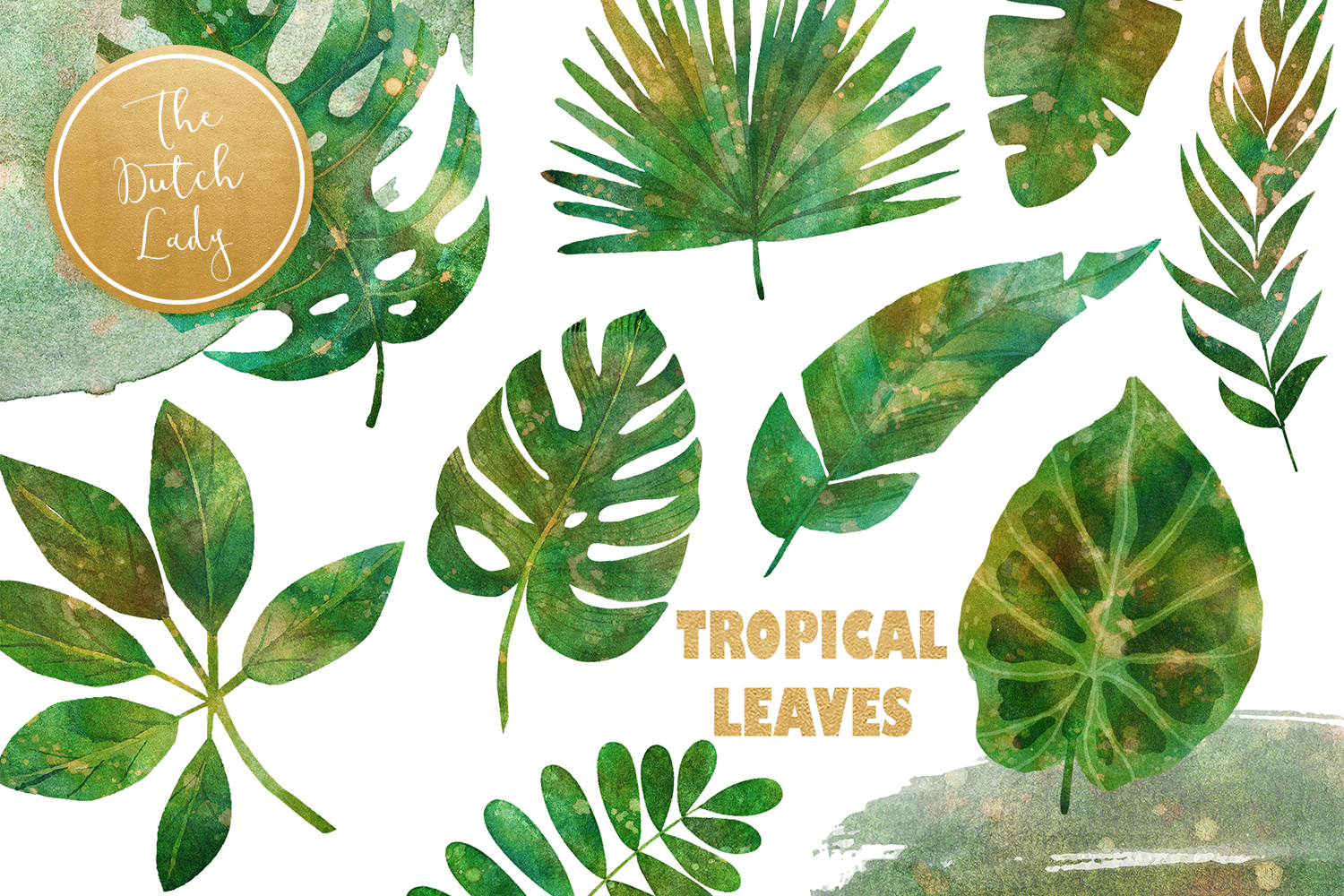 Tropical Jungle Leaves Clipart Set Graphic By Daphnepopuliers Creative Fabrica Explore the 39+ collection of tropical leaves clipart images at getdrawings. tropical jungle leaves clipart set