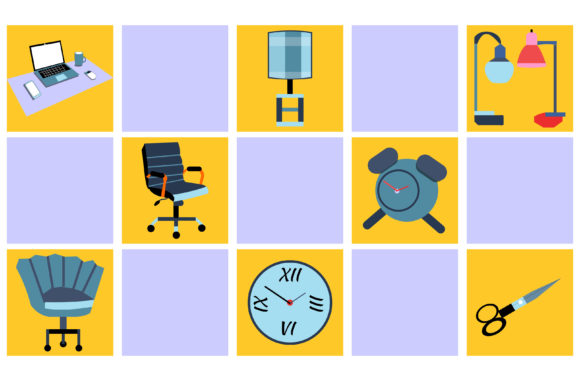Office Equipment Background Graphic By Yapivector Creative Fabrica