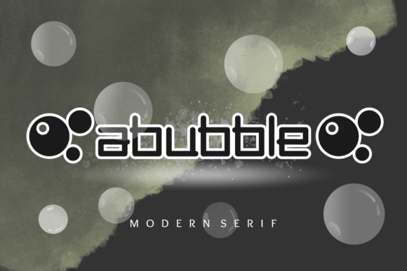Print on Demand: Abubble Display Font By Prast Art