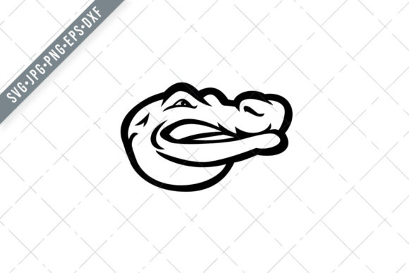 Print on Demand: Alligator or Gator Head Side Graphic Illustrations By patrimonio