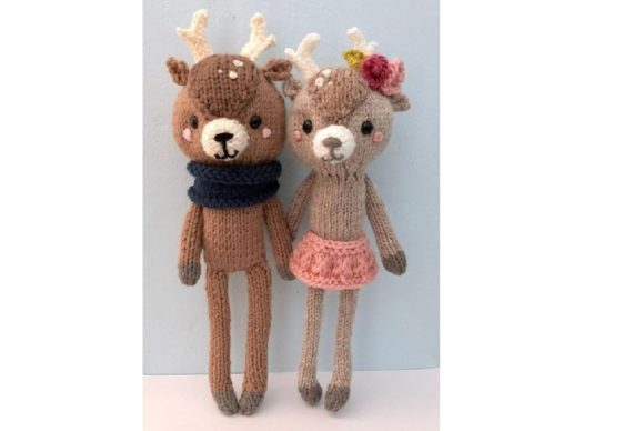 Amigurumi Knit Little Deer Patterns Grafik Knitting Patterns von Amy Gaines Amigurumi Patterns