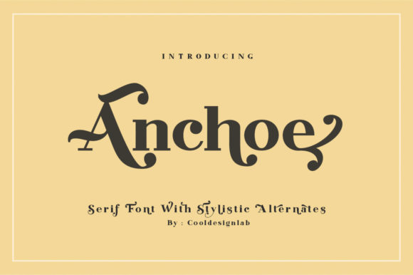 Print on Demand: Anchoe Serif Font By Cooldesignlab