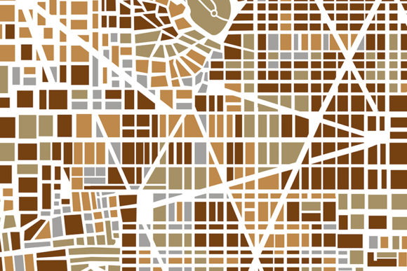 Print on Demand: Background City Map Graphic Backgrounds By AlexZel