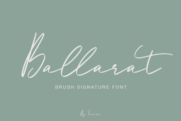 Print on Demand: Ballarat Script & Handwritten Font By Vunira