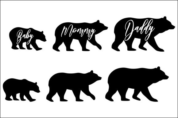 Bears Family Graphic Product Mockups By Fast Store