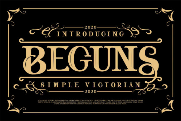 Print on Demand: Beguns Display Font By Vunira