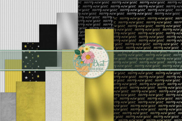 Print on Demand: Bringing in the New Year Papers Graphic Backgrounds By QueenBrat Digital Designs