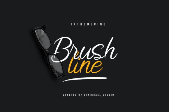 Print on Demand: Brushline Script & Handwritten Font By staircasestudio20