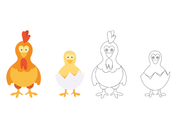 Chicken Coloring Kids Vector Graphic Icons By optimasipemetaanlokal