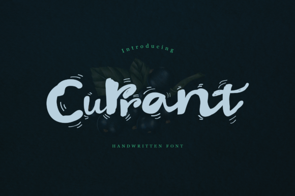 Print on Demand: Currant Script & Handwritten Font By Unicode Studio