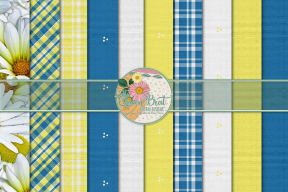 Print on Demand: Daisy Devotion Papers Graphic Backgrounds By QueenBrat Digital Designs