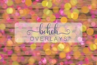 Print on Demand: Decorative Bokeh Overlay Backgrounds Graphic Backgrounds By Prawny