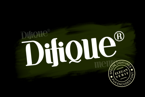 Print on Demand: Difique Menre Display Font By Prast Art