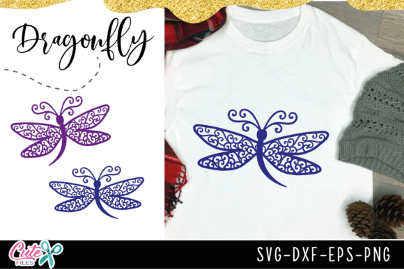 Dragonfly Mandala Graphic Illustrations By Cute files